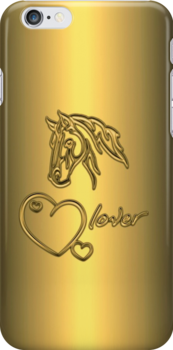 "I-Phone case ""Horselover"" - golden edit/inverted by scatharis"