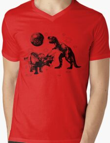 Discosaurs Mens V-Neck T-Shirt