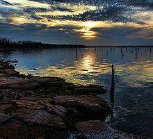 Dusk At Lake Eufaula by Carolyn  Fletcher