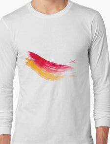 Colorful Watercolor Brush  Long Sleeve T-Shirt