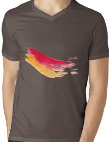 Colorful Watercolor Brush  Mens V-Neck T-Shirt
