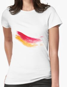 Colorful Watercolor Brush  Womens Fitted T-Shirt