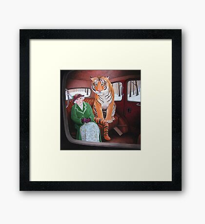 Once upon a time in a taxi. Framed Print