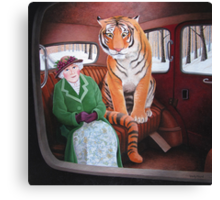 Once upon a time in a taxi. Canvas Print