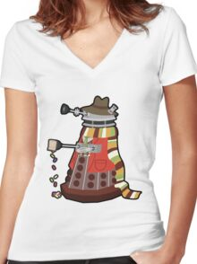 Daleks in Disguise - Fourth Doctor Women's Fitted V-Neck T-Shirt