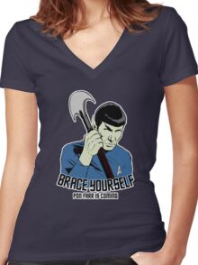 Pon Farr Is Coming (For Dark Shirts) Women's Fitted V-Neck T-Shirt