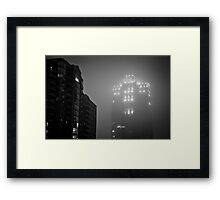 Minneapolis Fog Framed Print