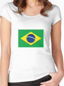 Brazil Flag Women's Fitted Scoop T-Shirt