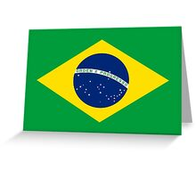 Brazil Flag Greeting Card