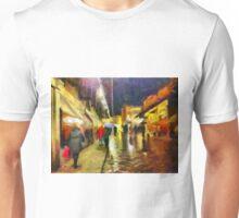 Rainy night, Ponte Vecchio, Florence, Italy Unisex T-Shirt