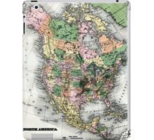 Map of the North American continent iPad Case/Skin