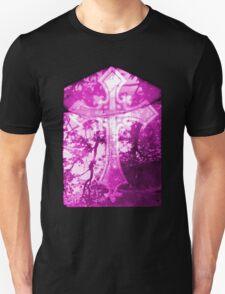 Pink Crucifix on Glass Window  T-Shirt