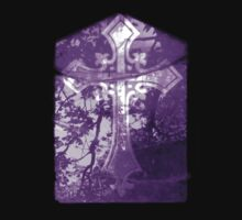 Purple Crucifix on Glass Window Kids Clothes