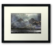 The Sea, The Land. Framed Print