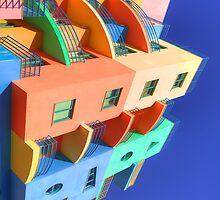 Rainbow House 02 iPhone/iPad Case by ManateesDesign