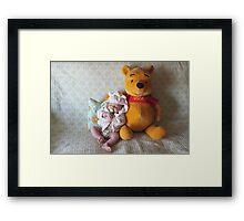My Friend Pooh Bear Framed Print