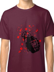 hearts and a hand grenade Classic T-Shirt