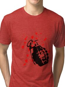 hearts and a hand grenade Tri-blend T-Shirt
