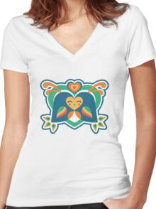 Love Birds Women's Fitted V-Neck T-Shirt