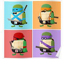 Teenage Mutant Ninja Turtles Pop Art Poster