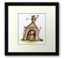 Dogs House - Dog Cards & Prints Framed Print