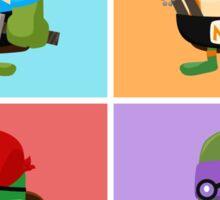 Teenage Mutant Ninja Turtles Pop Art Sticker