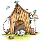 Jacks House - Dog Cards & Prints by Michelle Campbell