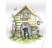 Shabbys House - Dog Cards & Prints  Poster