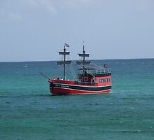 Pirate ship on the Gulf of Mexico by Kirk D. Belmont Photography