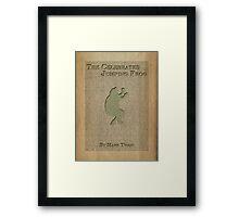 Jumping Frog by Mark Twain Framed Print