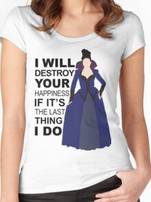 Regina Mills - Destroy Your Happiness Women's Fitted Scoop T-Shirt
