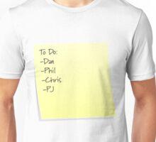 Fantastic Foursome To Do List Unisex T-Shirt