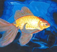 Goldfish and Blue Cave by Asher Davidson