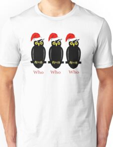 Christmas Owls Unisex T-Shirt