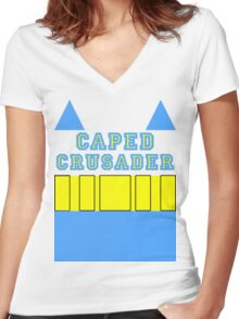 Layers - Caped Crusader 2 Women's Fitted V-Neck T-Shirt