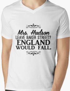England Would Fall Mens V-Neck T-Shirt
