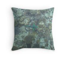 Corel Fish Throw Pillow