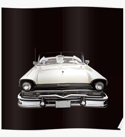 50s Ford Fairlane Convertible Poster