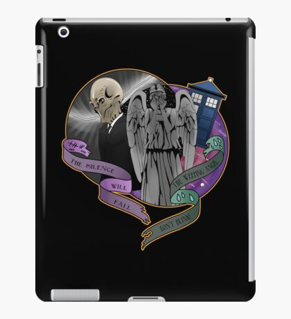 The Silent Angel in a Blue Box iPad Case/Skin