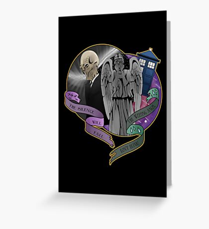 The Silent Angel in a Blue Box Greeting Card
