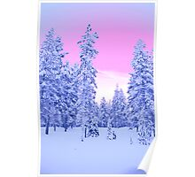 Pink Sky, Lapland Poster