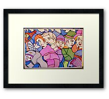 crowd on 5th avenue Framed Print