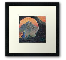 Her Body Heat Left With The Sun Framed Print