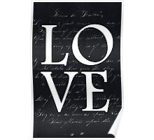 love - black and white edition Poster