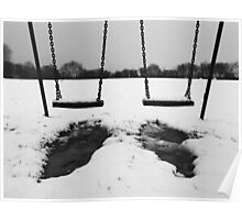Swings in thawing snow Poster