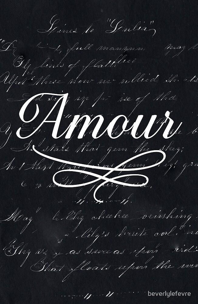 amour - black by beverlylefevre