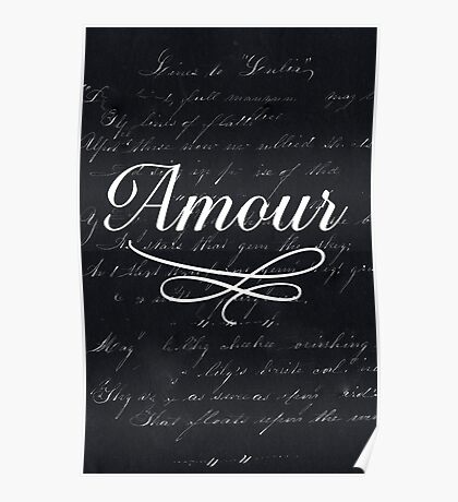 amour - black Poster