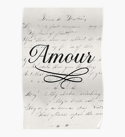 amour - white Poster