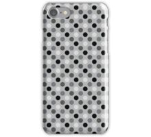 Gray Scale Polka Dots iPhone Case/Skin