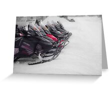 Snowmobiles  Greeting Card